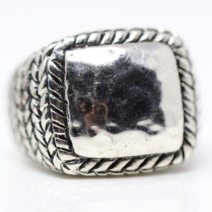 SILPADA STERLING SILVER HAMMERED WOVEN RING 7.5